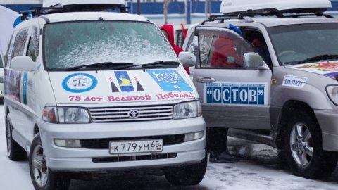 Сахалинцы отправились в патриотический автопробег по России