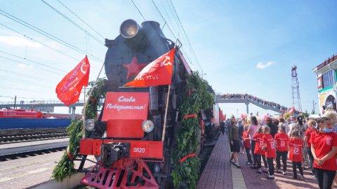 «Поезд Победы» посетил места боевой славы