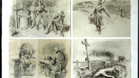Фронтовые рисунки Владимира Саушина покажут в музее