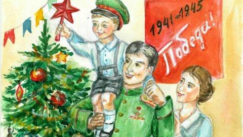 Рисунки станут новогодними открытками