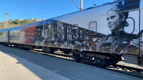 Севастополь встретил Поезд Победы