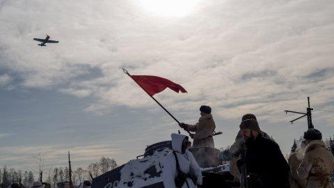 В день защитника Отечества в музее «Поле Победы» состоялась реконструкция наступательной Корсунь-Шевченковской операции